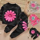 Fashion Toddler Kids Baby Girls Outfits Clothes T-shirt Tops+Long Pants 2PCS Set