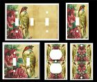 VINTAGE BIRD AND ROSES LIGHT SWITCH COVER PLATE