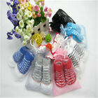 Baby Cotton Infant Boys CRIB Shoes Booties Socks 0-6 Month NEWSORN NEW SO3