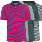 Adidas Golf Men's Tournament 3-Color Striped Polo Shirt, Brand NEW