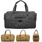 Mens Canvas Travel Duffel Bag Carry On Luggage Weekend Bag Large Handbag Totes