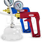 LeLuv MAXI Blue or Red Vagina Pump with Gauge Cup Increase Labia