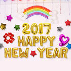 Home Foil Balloon New Year's Eve Party 2017/HAPPY NEW YEAR Letter Set Decor New