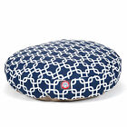 Majestic Pet Navy Blue Links Round Pet Bed - Dog Bed