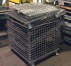 Collapsible Wire Mesh Stacking Storage Baskets - (6) as a LOT