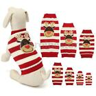 Reindeer Christmas Sweater Pet Puppy Cat Dog Striped Knit Coat Clothes Gifts New
