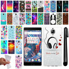 For OnePlus 3 3T Three TPU SILICONE Rubber Soft Protective Case Cover + Pen