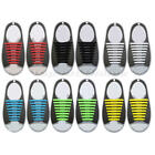 12x Elastic No tie shoelaces Silicone speed strings for Running Walking Sneakers