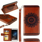 Mandala Leather Magnetic Flip Stand Cover Wallet Case For HUAWEI P9 Y6 Lite Y530