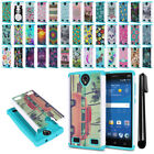 For ZTE ZMAX 2 Z958 Z955L Hybrid Bumper Shock Proof Hard TPU Case Cover + Pen