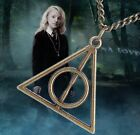 Movie Harry Potter -Deathly Hallow Metal Silver Copper Triangle Necklace Pendant