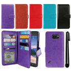 For Samsung Galaxy S6 Active G890 Magnetic Card Holder Wallet Cover Case + Pen