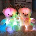 Cute Colorful Glowing Soft Stuffed Plush Doll Bear Toy Pillow Xmas Gift for Kids