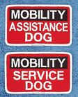 MOBILITY ASSISTANCE SERVICE DOG PATCH 2.5X4 inch Danny & LuAnns Embroidery