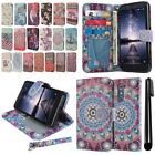 For ZTE Zmax Pro Carry Z981 Flip Wallet LEATHER Skin POUCH Case Cover + Pen