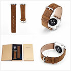Luxury Brown Real Genuine Leather Strap Bracelet Watch Bands For Apple Watch 1 2