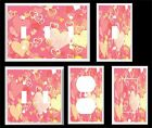 PINK AND YELLOW HEARTS GIRLS ROOM  LIGHT SWITCH COVER PLATE