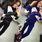 Women 2pcs Hoodies Sweatshirt Pants Sets Casual Tracksuit Jogging Gym Sport B20E