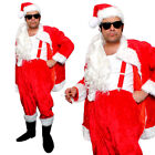 MENS DELUXE NAUGHTY SANTA COSTUME BAD SLEAZY FATHER CHRISTMAS FANCY DRESS LOT