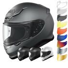 Shoei NXR Plain Motorcycle Bike Motorbike Full Face Helmet & Visor Crash Racing