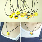 Fashion Charms Necklace EMOJI Emoticons Pendant String Chain For Women Girls HF
