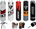 RDX 5ft Punch Bag Wall Bracket Pull Up Bar Gloves,Chain Boxing Set MMA Training