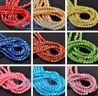 100~1000pcs 4mm Gold/Silver Foil Bicone Faceted Glass Loose Spacer Glitter Beads