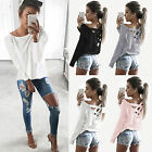 Fashion Women Loose Pullover T-shirt Long Sleeve Casual Cotton Tops Shirt Blouse