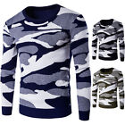 New Stylish Tops Men's Casual Sweater Camouflage Knitted Sweaters Slim Jumper