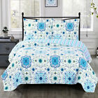 Modern Stylish Floral Arielle Oversized Coverlet Reversible Wrinkle Free Set image