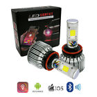 LED Headlight W/ RGB Demon Eye Bluetooth Controller H4 H7 H11 H13 9005 9006 9007