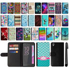 For Sony Xperia X Performance F8131 F8132 Design Wallet POUCH Case Cover + Pen
