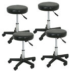 Black/White Adjustable Tattoo Salon Stool Hydraulic Rolling Chair Facial Massage