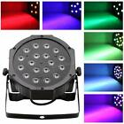 18*3W LED RGB PAR CAN DJ Stage DMX Lighting Disco Wedding Uplighting DA