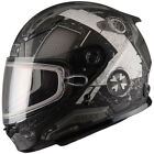 Gmax YOUTH GM49Y Trooper Helmet / Flat Black/White - All Sizes