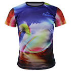 Swan T-Shirt Mens Cycling Jersey 3D Round Quick-Drying Sports Tops