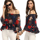 New Fashion Women Sexy Off Shoulder Casual Blouse Summer Tops Beach T Shirt S-XL