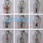 Fashion Women Necklace Sweater Long Chain Glass Pendants Vintage Jewelry Charms