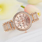 Luxury Women's Crystal Stainless Steel Quartz Analog Wrist Watch