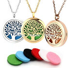 Aromatherapy Openable Life Tree Perfume Diffuser Locket Pendant Chain Necklace