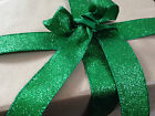 IT'S BEGINNING TO GLITTER GREEN like Christmas -  Luxury Wire Edged Ribbon *NEW*