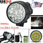 28000LM 11x CREE XM-L T6 LED Light 6x 18650 Waterproof Bicycle Cycling Head Lamp
