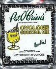 New Orleans Pat O'brien's Cyclone Cocktail Mix 9oz French Quarter Rum Mix