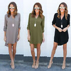 New Fashion Womens Blouse Long Sleeve Ladies Top T Shirt Loose Casual Tops