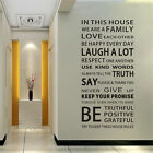 Home Room Decor Art  Vinyl Quote Wall Decal Stickers Bedroom Removable Mural DIY