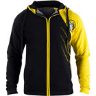 Hayabusa Recast Series Athletic Fit Zip-Up Hoodie - Black/Yellow - boxing mma