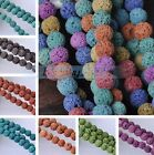 8mm Lava Stone Natural Gemstone Charms Round Loose Spacer Beads DIY Findings