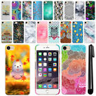"For Apple iPhone 7 4.7"" Art Design Protective Phone Hard Case Back Cover + Pen"