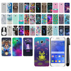 For Samsung Galaxy Ace 4 LTE G357 PATTERN HARD Protector Back Case Cover + Pen