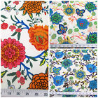 Discount Fabric Printed  Spandex Stretch Floral On Branches Choose Your Color PS